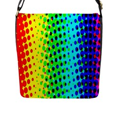 Comic Strip Dots Circle Rainbow Flap Messenger Bag (l)  by Alisyart