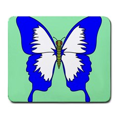 Draw Butterfly Green Blue White Fly Animals Large Mousepads by Alisyart