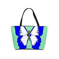Draw Butterfly Green Blue White Fly Animals Shoulder Handbags by Alisyart