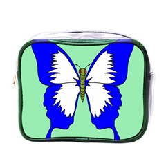 Draw Butterfly Green Blue White Fly Animals Mini Toiletries Bags by Alisyart