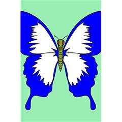 Draw Butterfly Green Blue White Fly Animals 5 5  X 8 5  Notebooks by Alisyart