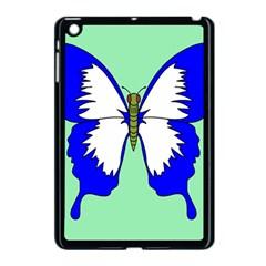 Draw Butterfly Green Blue White Fly Animals Apple Ipad Mini Case (black) by Alisyart