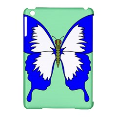 Draw Butterfly Green Blue White Fly Animals Apple Ipad Mini Hardshell Case (compatible With Smart Cover) by Alisyart