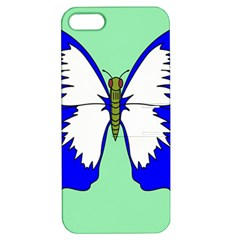 Draw Butterfly Green Blue White Fly Animals Apple Iphone 5 Hardshell Case With Stand by Alisyart