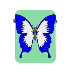 Draw Butterfly Green Blue White Fly Animals Apple Ipad 2/3/4 Protective Soft Cases by Alisyart