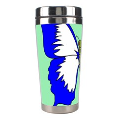 Draw Butterfly Green Blue White Fly Animals Stainless Steel Travel Tumblers by Alisyart