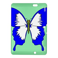 Draw Butterfly Green Blue White Fly Animals Kindle Fire Hdx 8 9  Hardshell Case by Alisyart