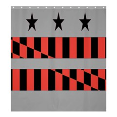 Falg Sign Star Line Black Red Shower Curtain 66  X 72  (large)  by Alisyart