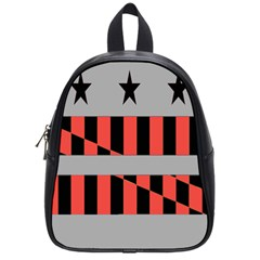 Falg Sign Star Line Black Red School Bags (small)  by Alisyart