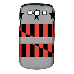 Falg Sign Star Line Black Red Samsung Galaxy S Iii Classic Hardshell Case (pc+silicone) by Alisyart