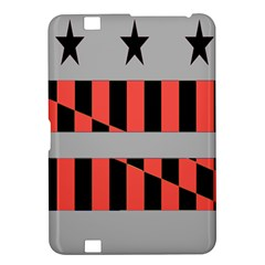 Falg Sign Star Line Black Red Kindle Fire Hd 8 9  by Alisyart