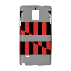 Falg Sign Star Line Black Red Samsung Galaxy Note 4 Hardshell Case by Alisyart