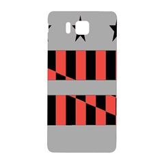 Falg Sign Star Line Black Red Samsung Galaxy Alpha Hardshell Back Case by Alisyart