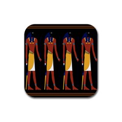 Egyptian Mummy Guard Treasure Monster Rubber Square Coaster (4 Pack)  by Alisyart