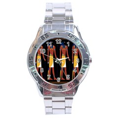 Egyptian Mummy Guard Treasure Monster Stainless Steel Analogue Watch by Alisyart