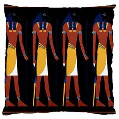 Egyptian Mummy Guard Treasure Monster Large Cushion Case (two Sides) by Alisyart