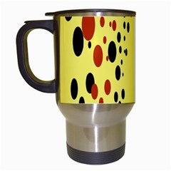 Gradients Dalmations Black Orange Yellow Travel Mugs (white) by Alisyart