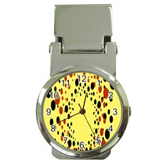 Gradients Dalmations Black Orange Yellow Money Clip Watches by Alisyart