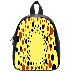 Gradients Dalmations Black Orange Yellow School Bags (small)  by Alisyart