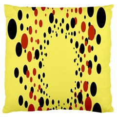 Gradients Dalmations Black Orange Yellow Large Cushion Case (one Side) by Alisyart