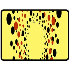 Gradients Dalmations Black Orange Yellow Double Sided Fleece Blanket (large)  by Alisyart