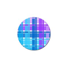 Gingham Pattern Blue Purple Shades Sheath Golf Ball Marker by Alisyart