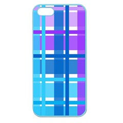 Gingham Pattern Blue Purple Shades Sheath Apple Seamless Iphone 5 Case (color) by Alisyart