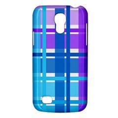 Gingham Pattern Blue Purple Shades Sheath Galaxy S4 Mini by Alisyart