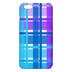 Gingham Pattern Blue Purple Shades Sheath Iphone 6 Plus/6s Plus Tpu Case by Alisyart