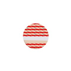 Chevron Wave Triangle Red White Circle Blue 1  Mini Magnets by Alisyart