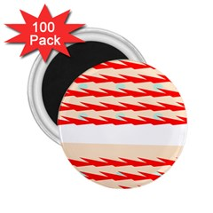 Chevron Wave Triangle Red White Circle Blue 2 25  Magnets (100 Pack)  by Alisyart