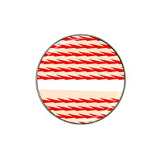 Chevron Wave Triangle Red White Circle Blue Hat Clip Ball Marker (10 Pack) by Alisyart