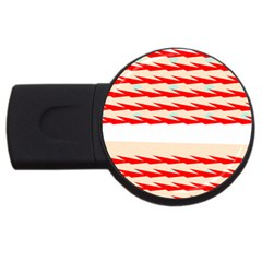 Chevron Wave Triangle Red White Circle Blue Usb Flash Drive Round (4 Gb) by Alisyart