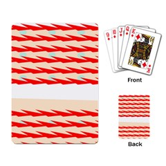 Chevron Wave Triangle Red White Circle Blue Playing Card by Alisyart