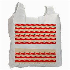 Chevron Wave Triangle Red White Circle Blue Recycle Bag (one Side) by Alisyart