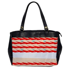 Chevron Wave Triangle Red White Circle Blue Office Handbags by Alisyart