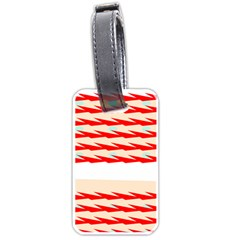 Chevron Wave Triangle Red White Circle Blue Luggage Tags (one Side)  by Alisyart