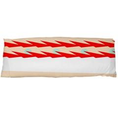 Chevron Wave Triangle Red White Circle Blue Body Pillow Case Dakimakura (two Sides) by Alisyart