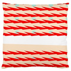 Chevron Wave Triangle Red White Circle Blue Large Cushion Case (one Side) by Alisyart