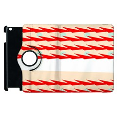 Chevron Wave Triangle Red White Circle Blue Apple Ipad 3/4 Flip 360 Case by Alisyart