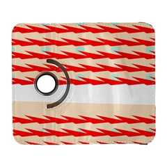 Chevron Wave Triangle Red White Circle Blue Galaxy S3 (flip/folio) by Alisyart