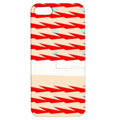 Chevron Wave Triangle Red White Circle Blue Apple Iphone 5 Hardshell Case With Stand by Alisyart