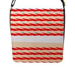Chevron Wave Triangle Red White Circle Blue Flap Messenger Bag (l)  by Alisyart