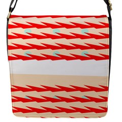 Chevron Wave Triangle Red White Circle Blue Flap Messenger Bag (s) by Alisyart