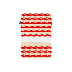 Chevron Wave Triangle Red White Circle Blue Apple Ipad Mini Protective Soft Cases by Alisyart