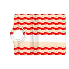 Chevron Wave Triangle Red White Circle Blue Kindle Fire Hd (2013) Flip 360 Case by Alisyart