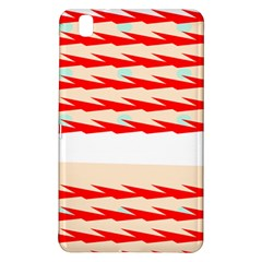 Chevron Wave Triangle Red White Circle Blue Samsung Galaxy Tab Pro 8 4 Hardshell Case by Alisyart
