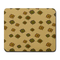 Compass Circle Brown Large Mousepads by Alisyart