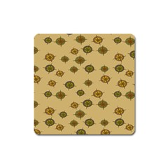 Compass Circle Brown Square Magnet by Alisyart