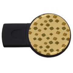 Compass Circle Brown Usb Flash Drive Round (2 Gb) by Alisyart